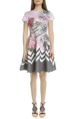 2b2a3bea3f86 Γυναικείο μίνι φόρεμα κλος TED BAKER HAIILIE PALACE GARDENS ροζ φλοράλ  (1612743.0-03p4)