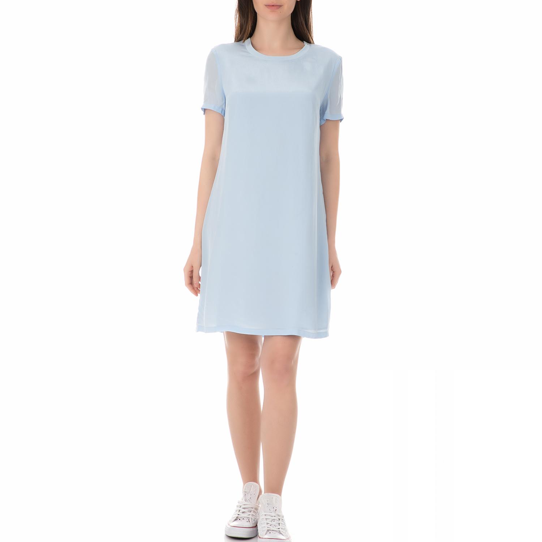 CALVIN KLEIN JEANS - Γυναικείο φόρεμα μίνι CALVIN KLEIN JEANS DOMENICA γαλάζιο