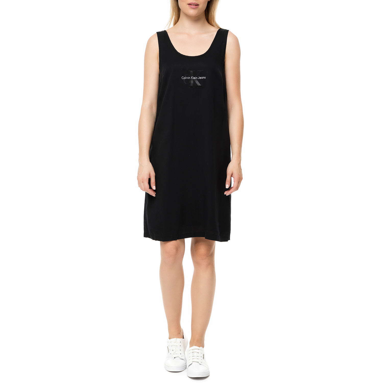 CALVIN KLEIN JEANS - Γυναικείο μίνι φόρεμα Calvin Klein Jeans DELLEN LOGO μαύρο γυναικεία ρούχα φορέματα μίνι