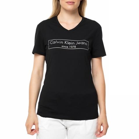e86746c009e6 Γυναικεία κοντομάνικη μπλούζα Calvin Klein Jeans TILLY-2 VN μαύρο με στάμπα  (1612915.0-7272)