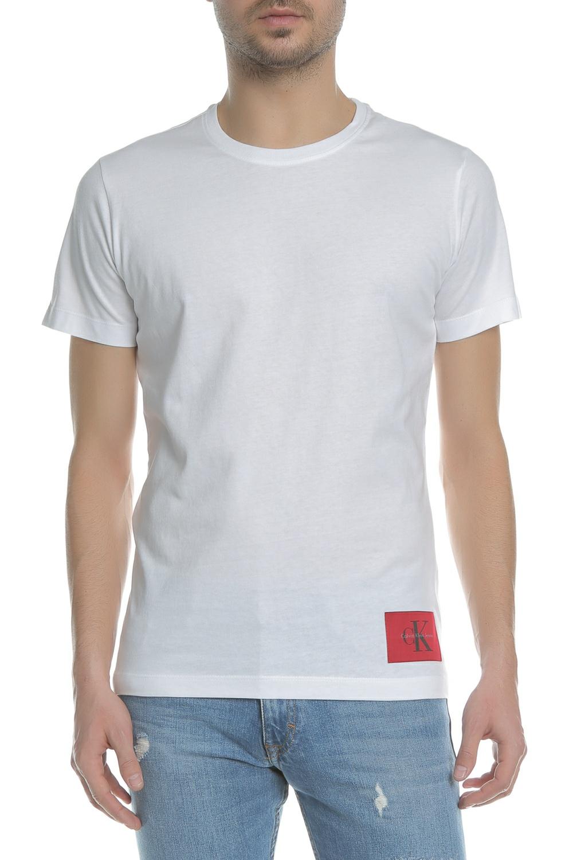 CALVIN KLEIN JEANS - Ανδρική κοντομάνικη μπλούζα Calvin Klein Jeans TAKODA  SLIM λευκή 678ce0d1a5d