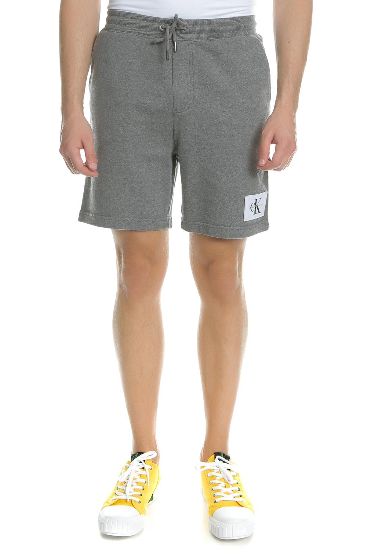 CALVIN KLEIN JEANS - Ανδρική βερμούδα Calvin Klein Jeans HOMEROS 3 SLIM γκρι ανδρικά ρούχα σορτς βερμούδες casual jean