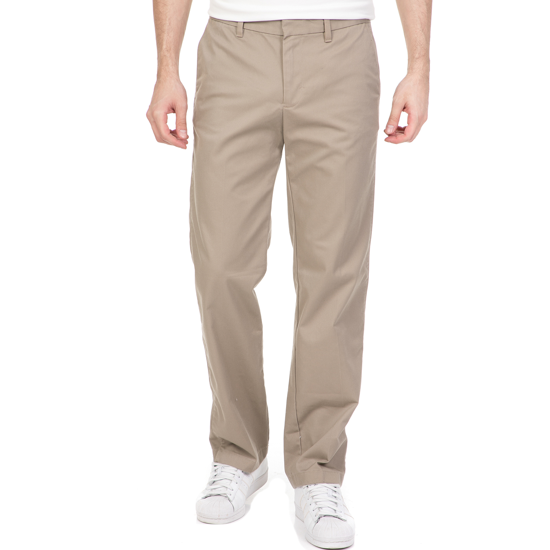 CALVIN KLEIN JEANS - Ανδρικό chino παντελόνι CALVIN KLEIN JEANS καφέ ανδρικά ρούχα παντελόνια chinos