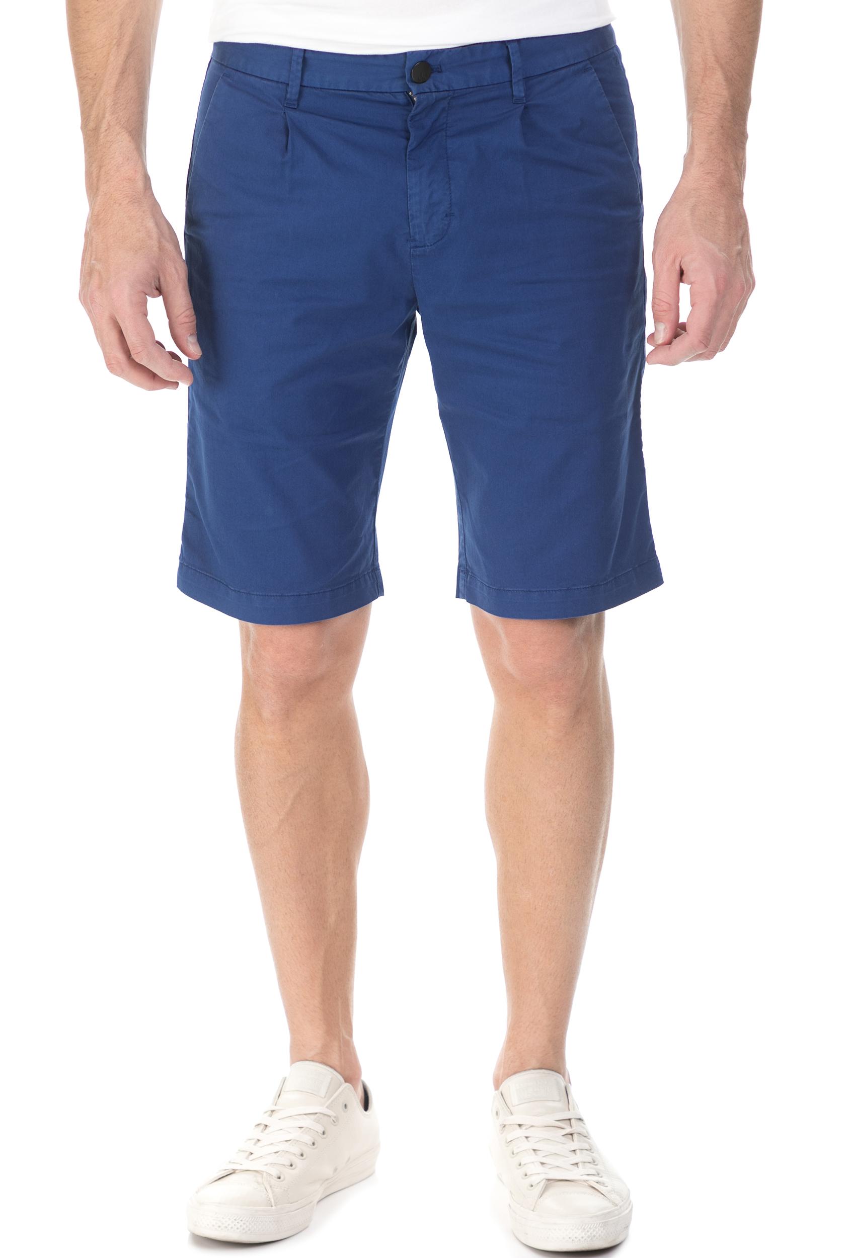 CALVIN KLEIN JEANS - Ανδρικη βερμούδα chino Calvin Klein Jeans HAYDEN PLEAT μπλε ανδρικά ρούχα σορτς βερμούδες casual jean