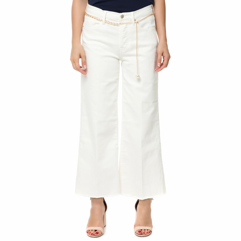 GUESS - Γυναικεία τζιν παντελόνα GUESS FANNY λευκή ⋆ pressmedoll.gr 61bcf6de01e