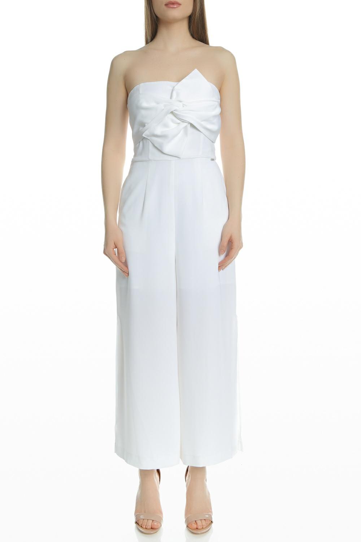 GUESS - Γυναικεία ολόσωμη φόρμα GUESS PIPER λευκή γυναικεία ρούχα ολόσωμες φόρμες