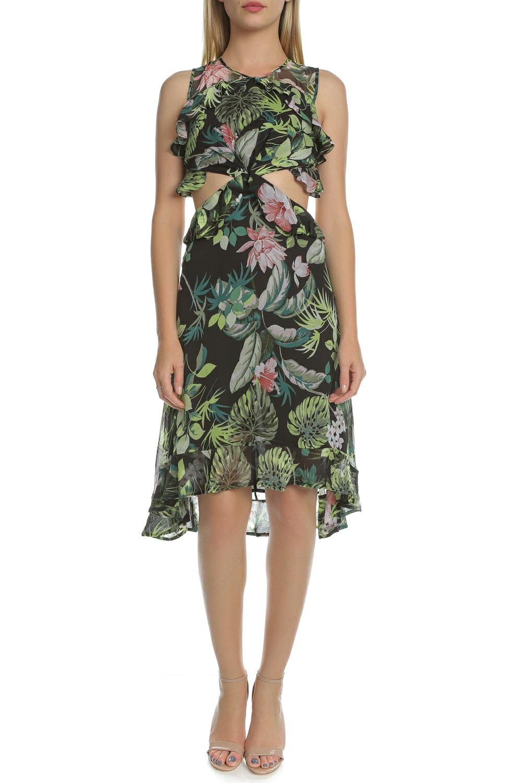 GUESS - Γυναικείο κοντό φόρεμα με άνοιγμα NATALIE GUESS φλοράλ γυναικεία ρούχα φορέματα μίνι