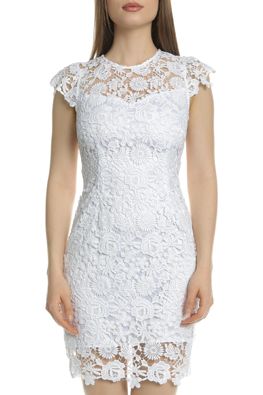 GUESS - Γυναικείο μίνι φόρεμα από δαντέλα JOYA GUESS λευκό γυναικεία ρούχα φορέματα μίνι