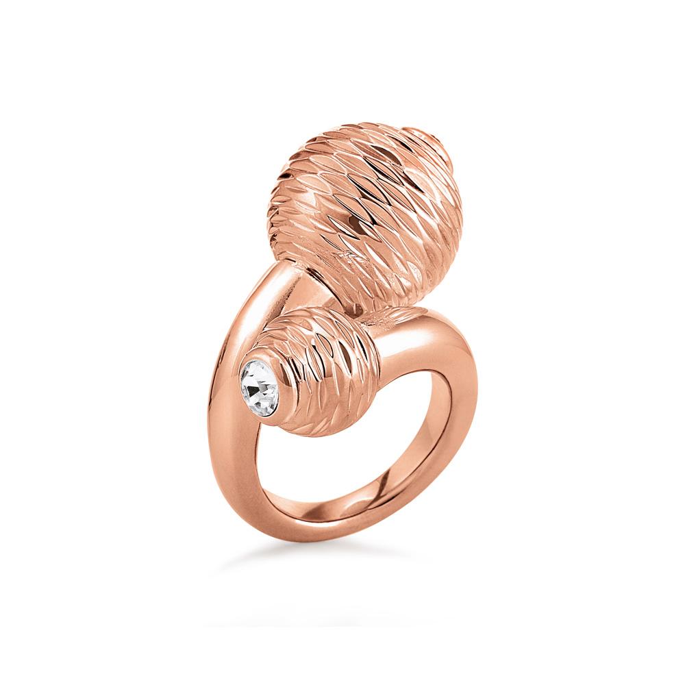 FOLLI FOLLIE - Γυναικείο δαχτυλίδι FOLLI FOLLIE ροζ-χρυσό γυναικεία αξεσουάρ κοσμήματα δαχτυλίδια