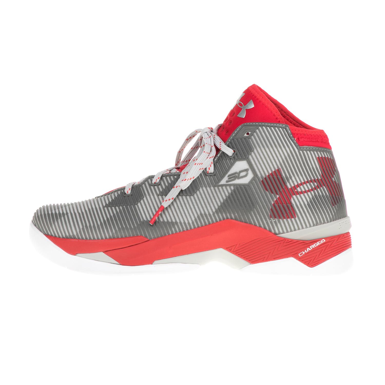 3e6191504a6 UNDER ARMOUR – Ανδρικά παπούτσια μπάσκετ UNDER ARMOUR TOP GUN γκρι-κόκκινα