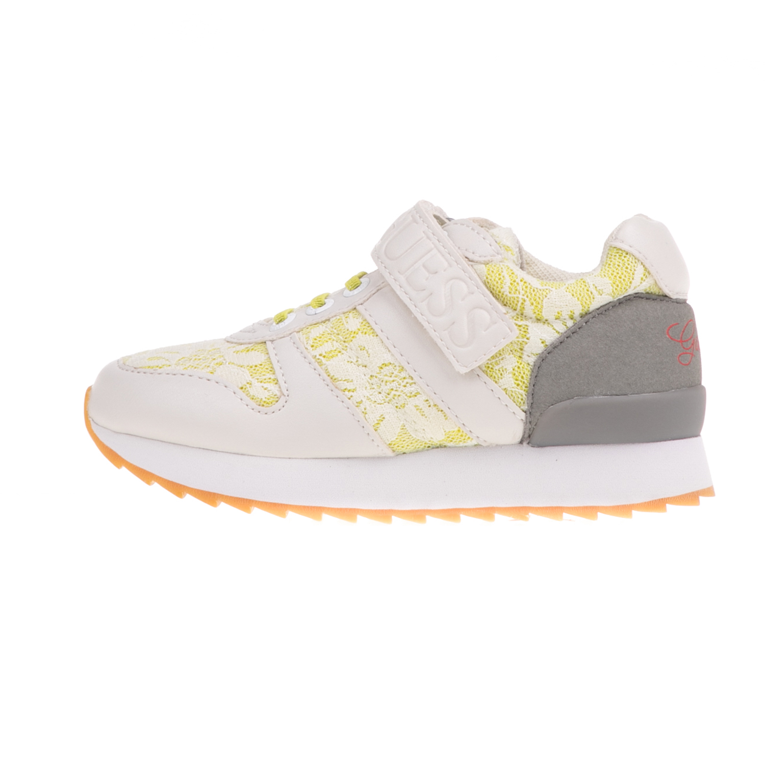 GUESS KIDS - Κοριτσίστικα sneakers GUESS KIDS REBECCA λευκά-κίτρινα παιδικά girls παπούτσια sneakers