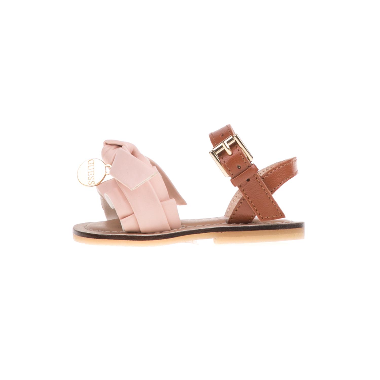 GUESS KIDS - Βρεφικά σανδάλια GUESS KIDS ROUCHES ροζ παιδικά baby παπούτσια πέδιλα σανδάλια
