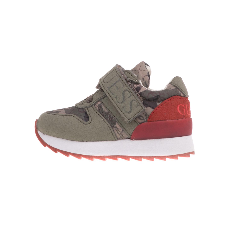 GUESS KIDS – Βρεφικά sneakers GUESS KIDS RUDY χακί