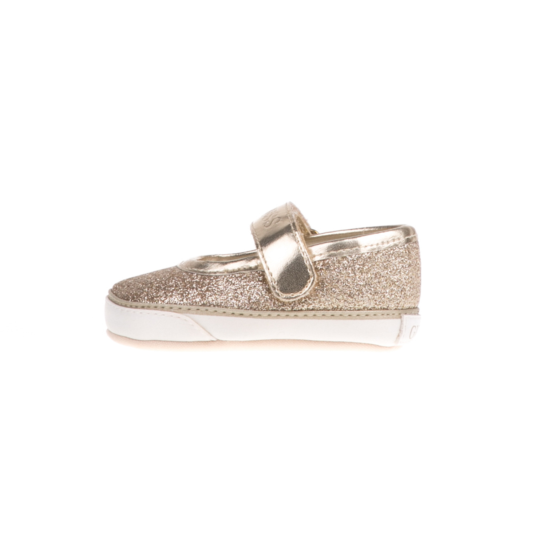 GUESS KIDS - Παιδικές μπαλαρίνες με glitter GUESS KIDS BALET χρυσές παιδικά girls παπούτσια casual