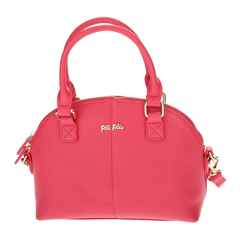 FOLLI FOLLIE - Γυναικεία μικρή τσάντα χειρός Folli Follie φούξια γυναικεία αξεσουάρ τσάντες σακίδια χειρός