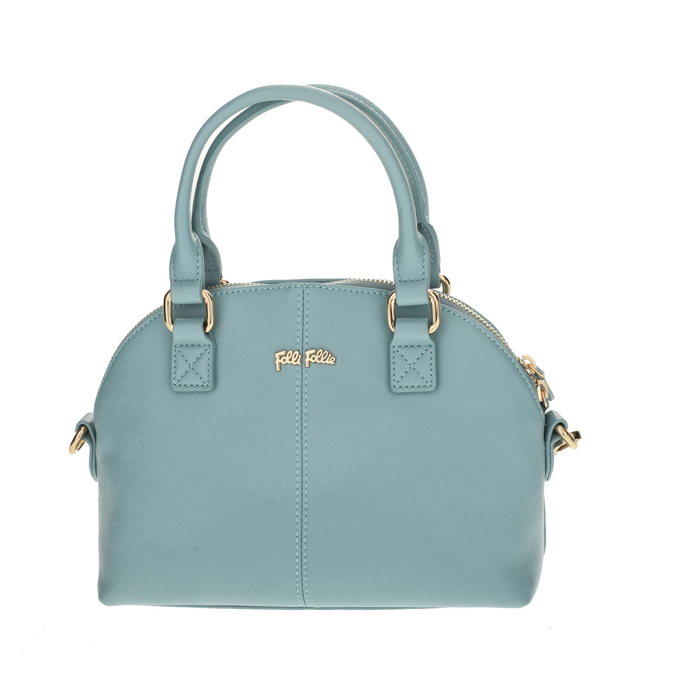 FOLLI FOLLIE - Γυναικεία μικρή τσάντα χειρός Folli Follie γαλάζια γυναικεία αξεσουάρ τσάντες σακίδια χειρός