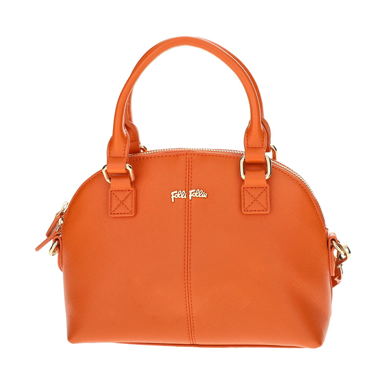 FOLLI FOLLIE - Γυναικεία μικρή τσάντα χειρός Folli Follie πορτοκαλί γυναικεία αξεσουάρ τσάντες σακίδια χειρός