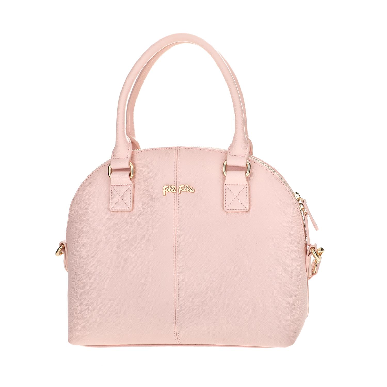 FOLLI FOLLIE - Γυναικεία μεγάλη τσάντα χειρός Folli Follie ροζ γυναικεία αξεσουάρ τσάντες σακίδια χειρός