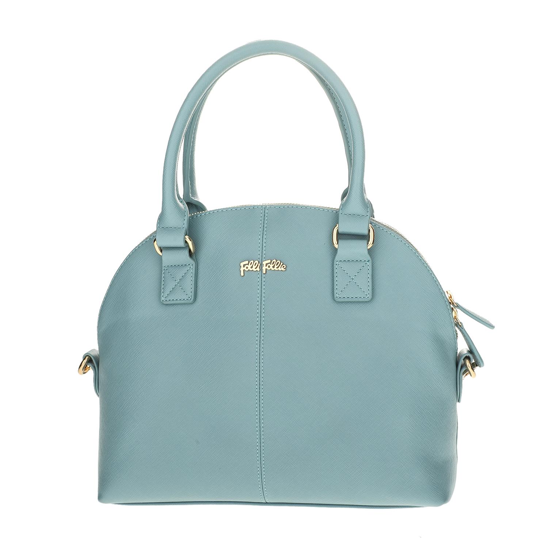 FOLLI FOLLIE - Γυναικεία μεγάλη τσάντα χειρός Folli Follie γαλάζια γυναικεία αξεσουάρ τσάντες σακίδια χειρός