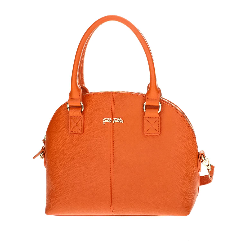 FOLLI FOLLIE - Γυναικεία μεγάλη τσάντα χειρός Folli Follie πορτοκαλί γυναικεία αξεσουάρ τσάντες σακίδια χειρός