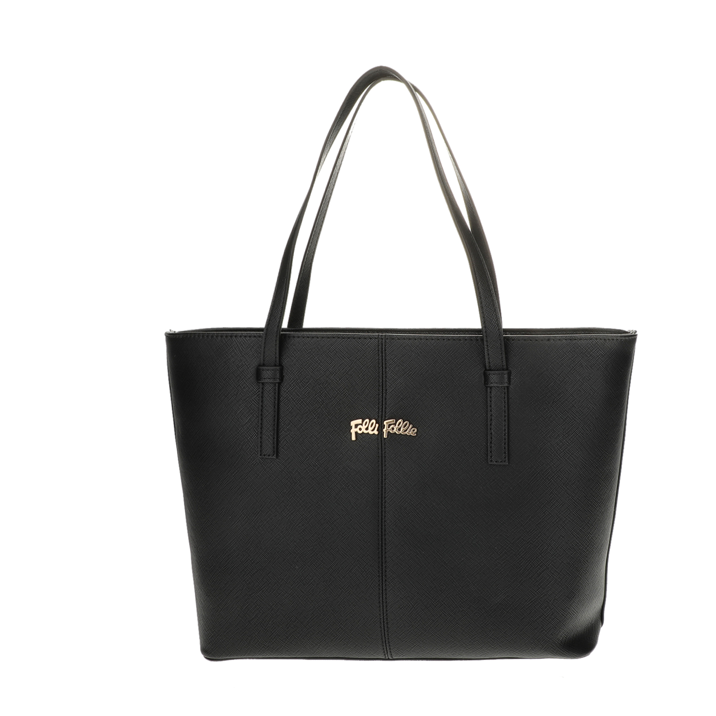 c05f8d6ec86 FOLLI FOLLIE - Γυναικεία μεσαία τσάντα ώμου Folli Follie μαύρη