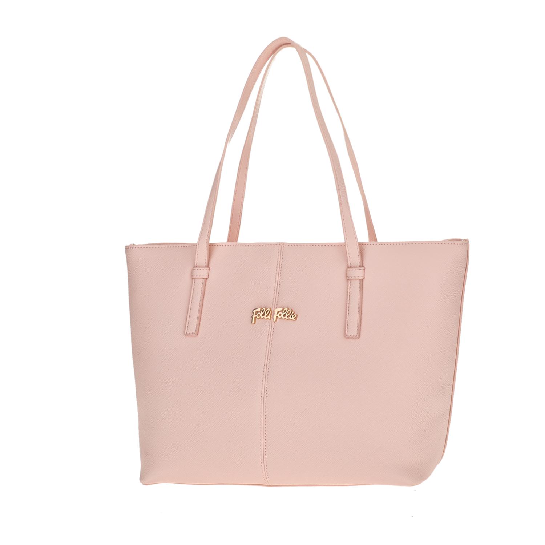 FOLLI FOLLIE - Γυναικεία μεσαία τσάντα ώμου Folli Follie ροζ γυναικεία αξεσουάρ τσάντες σακίδια ωμου