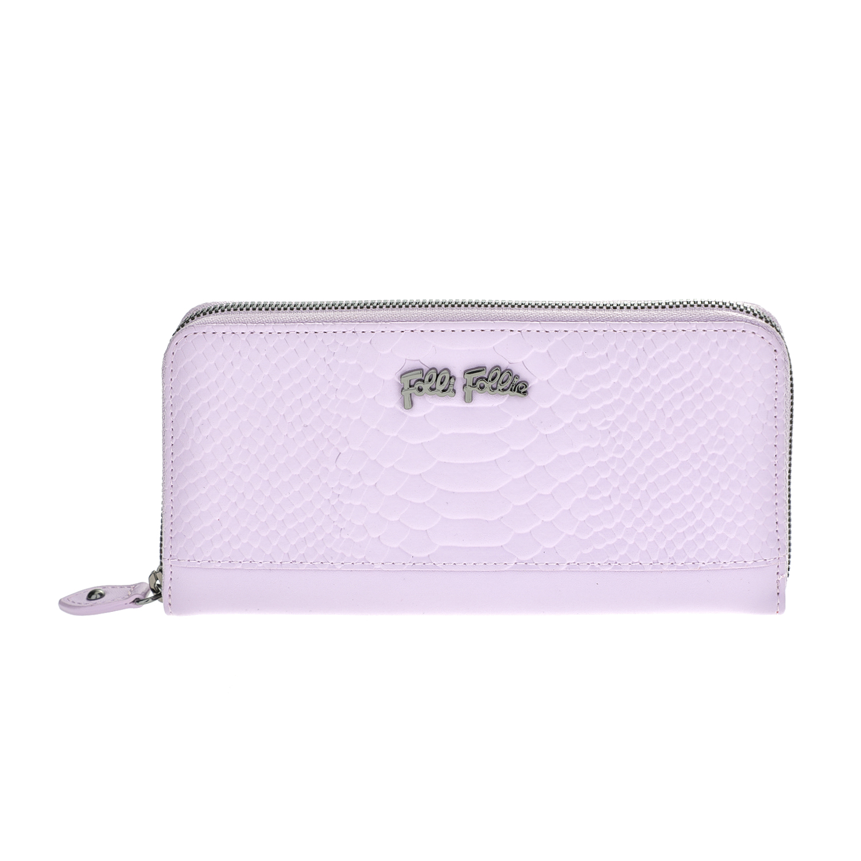 FOLLI FOLLIE – Γυναικείο μεγάλο πορτοφόλι με print φιδιού Folli Follie μοβ