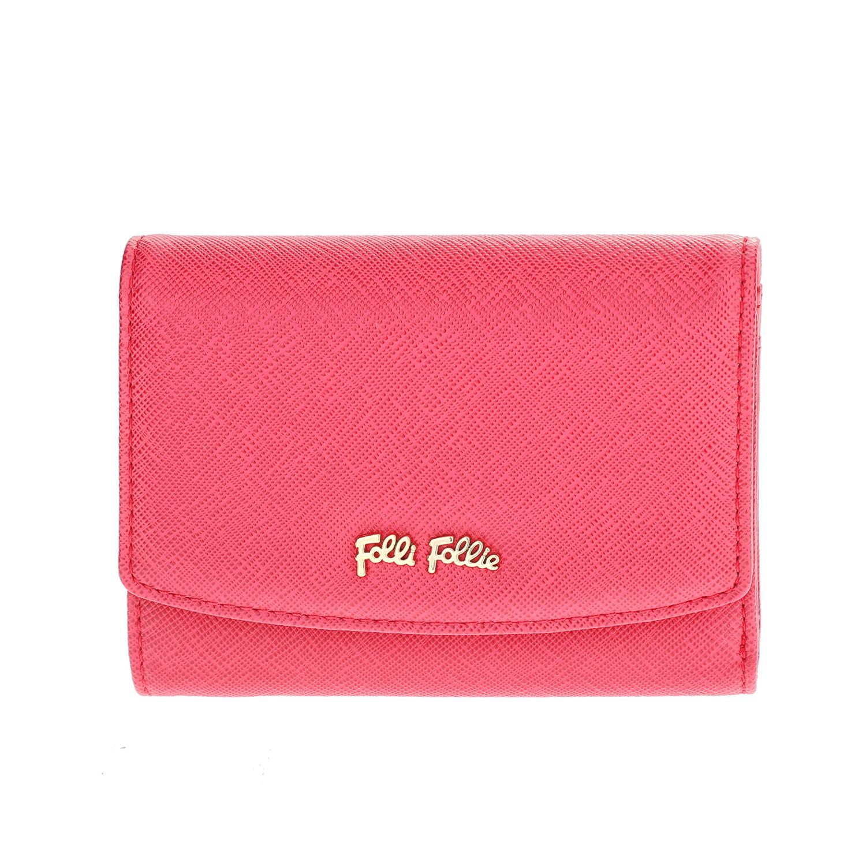 FOLLI FOLLIE – Γυναικείο μεσαίο αναδιπλούμενο πορτοφόλι Folli Follie φούξια
