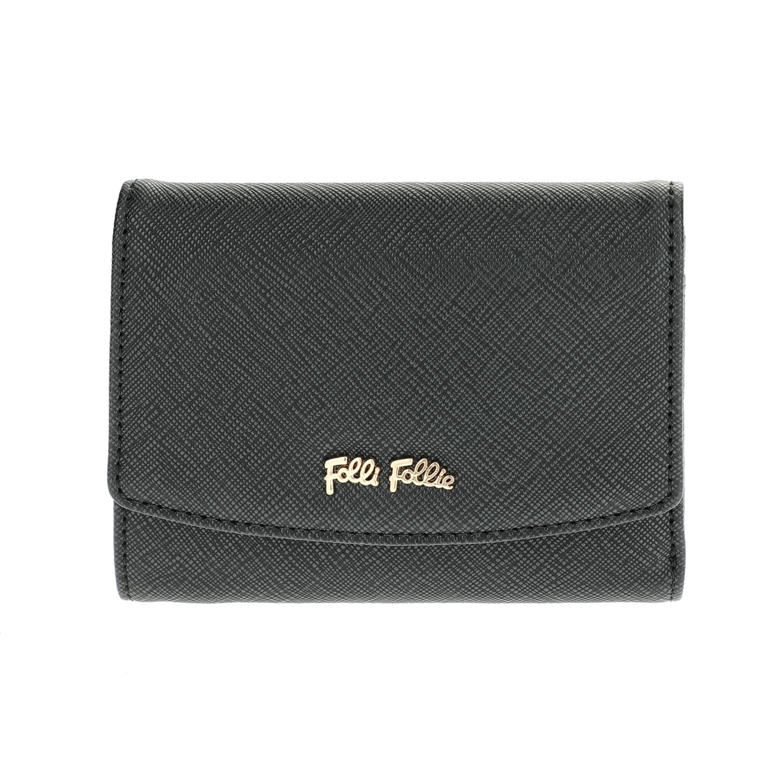 FOLLI FOLLIE – Γυναικείο μεσαίο αναδιπλούμενο πορτοφόλι Folli Follie μαύρο