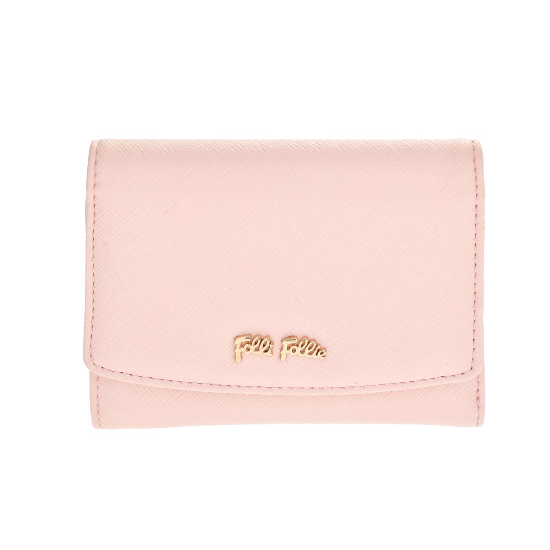 FOLLI FOLLIE – Γυναικείο μεσαίο αναδιπλούμενο πορτοφόλι Folli Follie ροζ