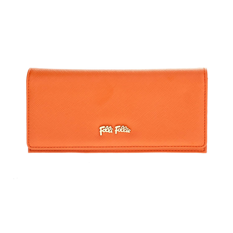 FOLLI FOLLIE – Γυναικείο μεγάλο αναδιπλούμενο πορτοφόλι Folli Follie πορτοκαλί