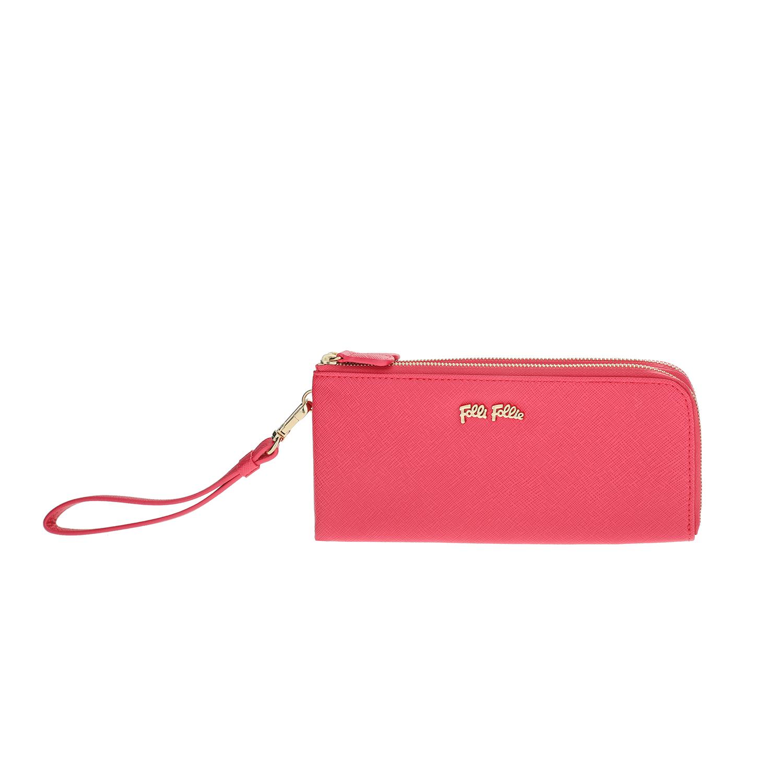FOLLI FOLLIE – Γυναικείο πορτοφόλι με φερμουάρ Folli Follie φούξια