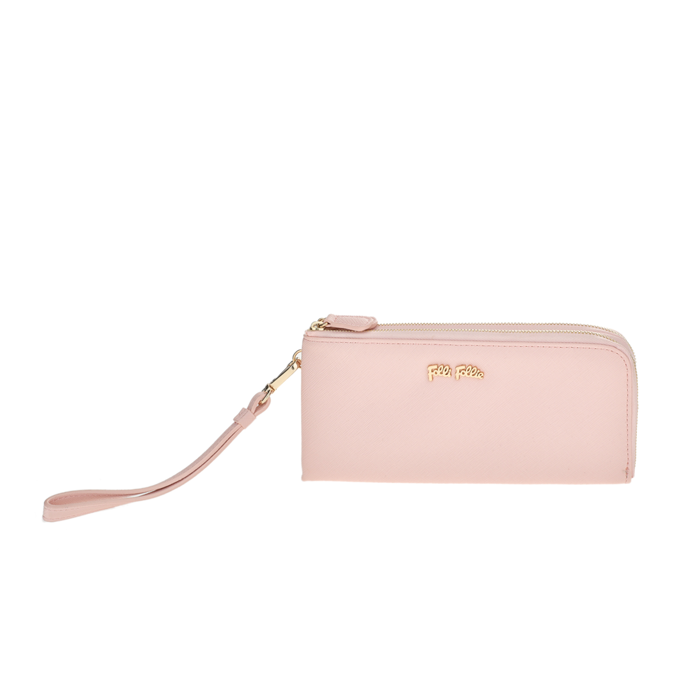 FOLLI FOLLIE - υναικείο πορτοφόλι με φερμουάρ Folli Follie ροζ γυναικεία αξεσουάρ πορτοφόλια μπρελόκ πορτοφόλια
