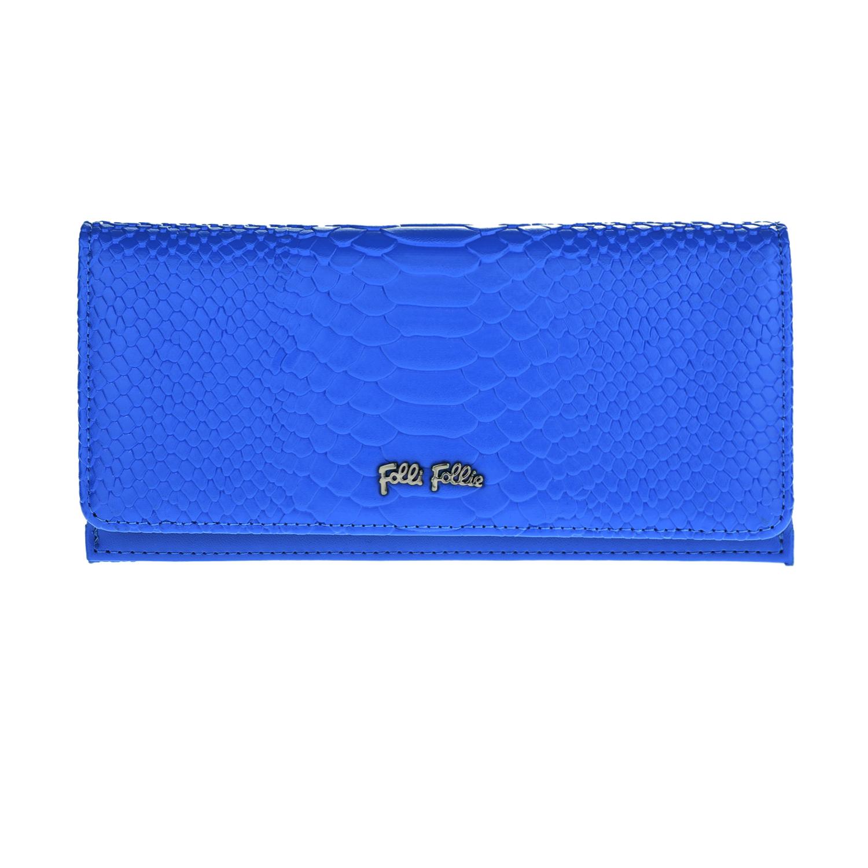 3524fb2e7a FOLLI FOLLIE - Γυναικείο μεγάλο αναδιπλούμενο πορτοφόλι Folli Follie μπλε  με pri