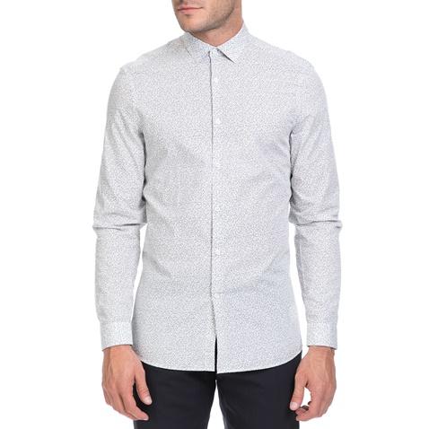 6c7be7586f17 Ανδρικό πουκάμισο WALLACE MAZE λευκό-γκρι - CALVIN KLEIN JEANS  (1618145.0-0004)