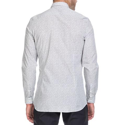 a80dcc504d38 Ανδρικό πουκάμισο WALLACE MAZE λευκό-γκρι - CALVIN KLEIN JEANS ...