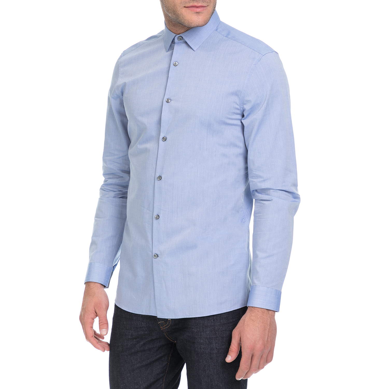 382ac2d373 CALVIN KLEIN JEANS - Ανδρικό πουκάμισο WALLACE MICRO μπλε