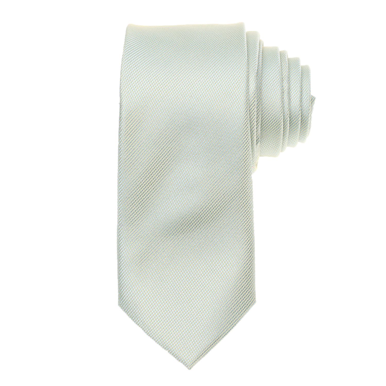 CK - Ανδρική γραβάτα CK MICRO RIB SOLID πράσινη