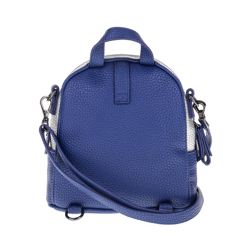 e35056092f FOLLI FOLLIE - Γυναικεία τσάντα πλάτης FOLLI FOLLIE μπλε-ασημί ...