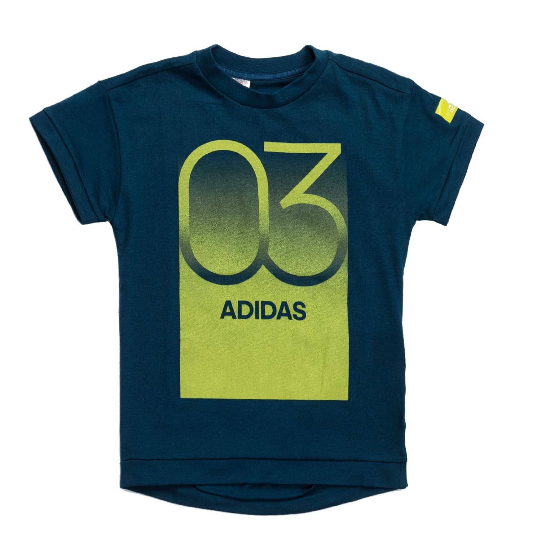 adidas - Αγορίστικη κοντομάνικη μπλούζα adidas μπλε παιδικά boys ρούχα αθλητικά