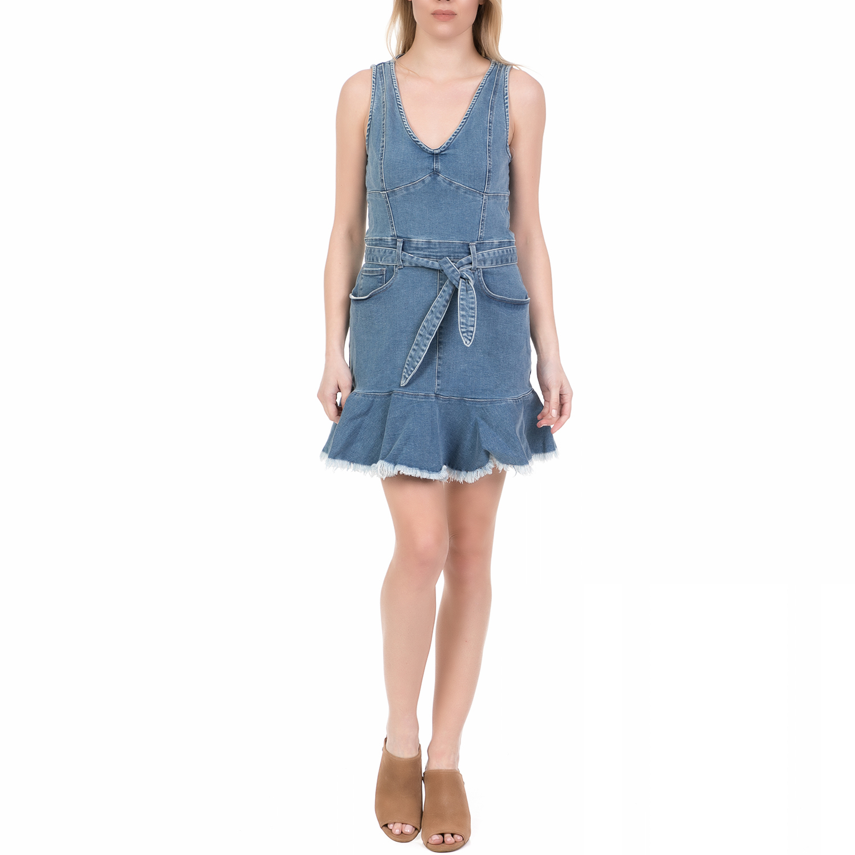 JUICY COUTURE - Γυναικείο μίνι denim φόρεμα JUICY COUTURE μπλε