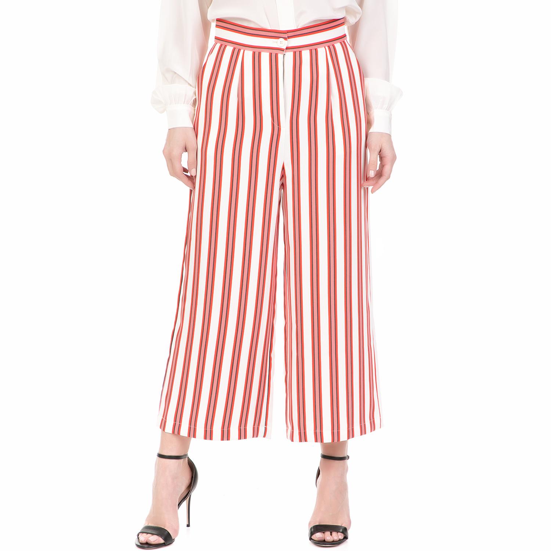 JUICY COUTURE - Γυναικεία ζιπ κιλότ BOLD JUICY COUTURE ριγέ γυναικεία ρούχα παντελόνια cropped