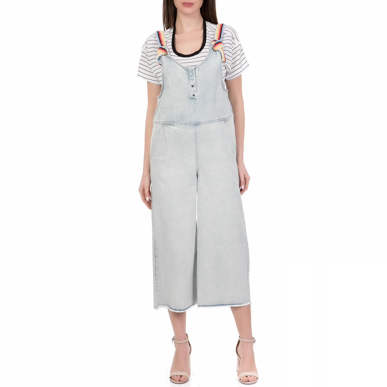 JUICY COUTURE - Γυναικεία ολόσωμη φόρμα JUICY COUTURE DENIM γαλάζια γυναικεία ρούχα ολόσωμες φόρμες