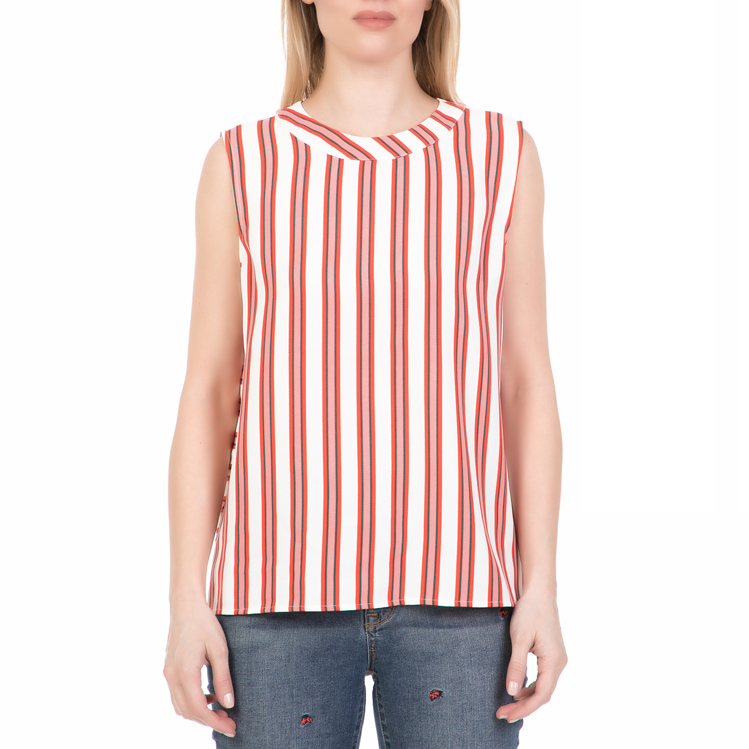 JUICY COUTURE - Γυναικείο τοπ BOLD STRIPE JUICY COUTURE εκρού