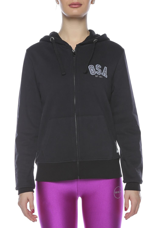 GSA – Γυναικεία μακρυμάνικη φούτερ ζακέτα GSA μαύρη