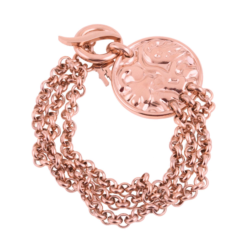 75d31803c1 -47% FOLLI FOLLIE – Γυναικείο βραχιόλι FOLLI FOLLIE COIN VINTAGE ροζ-χρυσό