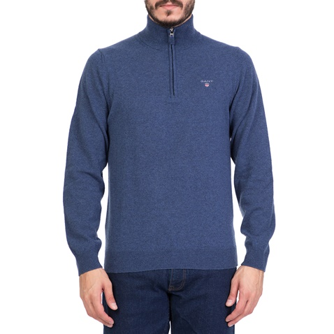 Ανδρικό πουλόβερ με ζιβάγκο GANT γαλάζιο (1621776.0-1429)  ad8306e7237