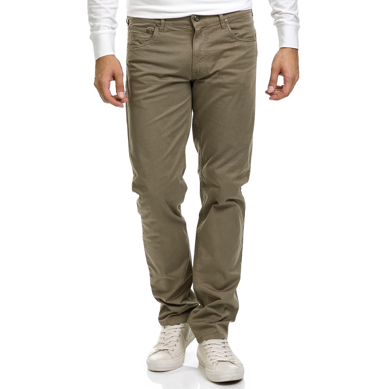GANT - Ανδρικό παντελόνι GANT λαδί ανδρικά ρούχα παντελόνια ισια γραμή