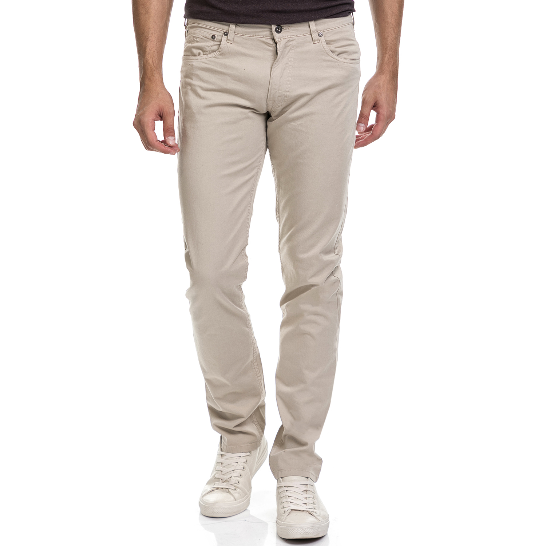 GANT - Ανδρικό παντελόνι GANT μπεζ ανδρικά ρούχα παντελόνια ισια γραμή