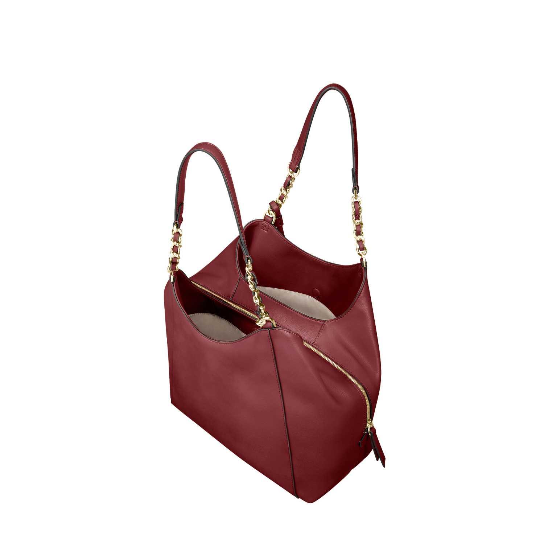 58c75307b8 SAMSONITE - Γυναικεία τσάντα ώμου SATINY HOBO BAG 3 μπορντό ...